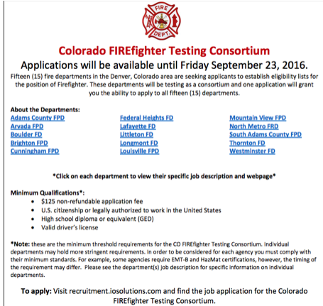 What is a firefighter Consortium Test/List - Firefighters